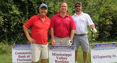 Saint Ferdinand Township Lions Club Thirtieth Annual Charity Golf  Tournament. September 2015. Mississippi Valley Roofing ...